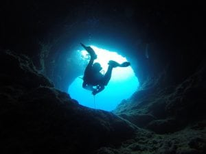Cave diving and health problems